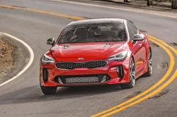 This photo provided by Kia shows the 2020 Kia Stinger, a performance-oriented midsize four-door car