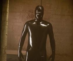 """Ryan Murphy's Instagram photo showing the """"American Horror Story"""" character the Rubber Man."""