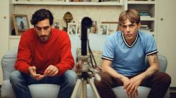 Gabriel D'Almeida Freitas, left, and Xavier Dolan, right, in a promo photo for Matthias & Maxime.""