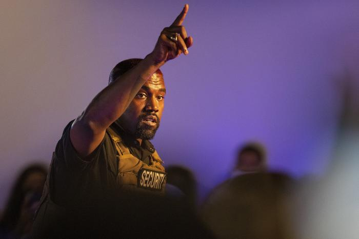 Kanye West makes his first presidential campaign appearance, Sunday, July 19, 2020 in North Charleston, S.C.
