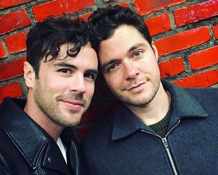 Blake Lee, left, and his partner Ben Lewis, right.