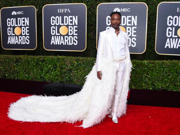 Billy Porter arrives at the 77th annual Golden Globe Awards at the Beverly Hilton Hotel on Sunday, Jan. 5, 2020, in Beverly Hills, Calif.