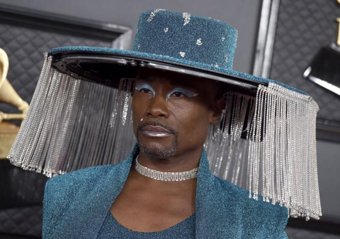 Billy Porter arrives at the 62nd annual Grammy Awards.