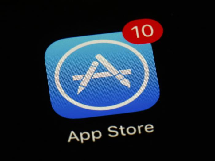 This March 19, 2018, file photo shows Apple's App Store app. Epic Games filed notice that is appealing a federal judge's decision in a lawsuit alleging that Apple has been running an illegal monopoly that stifles competition